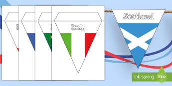 Six Nations Rugby Display Bunting-Scottish - CfE, calendar events, Scotland, Scottish, traditions, history, celebrations, 6 nations, bunting, rug