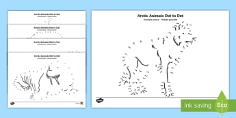 Arctic Animals Dot to Dot Activity Sheets English / Romanian - The Arctic, Polar Regions, north pole, south pole, explorers, worksheet,Romanian-translation