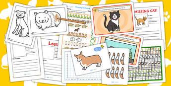 Pets Activity Pack - animals, activities, games, class games