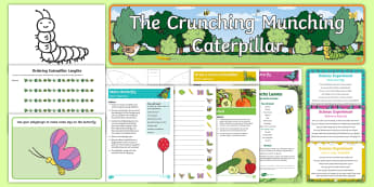 Childminder EYFS Resource Pack to Support Teaching on The Crunching Munching Caterpillar - The Crunching Munching Caterpillar, Sheridan Cain, life cycle of a butterfly, child minder, childmin