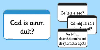 Useful Questions Flashcards Gaeilge - useful questions, flash cards, flashcards, questions