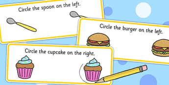 Right And Left Concept Worksheet - Right, Direction, Concept