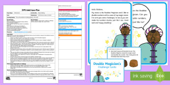 EYFS Magic Doubling Adult Input Plan and Resource Pack - EYFS Number ELG, mathematics, early years, EYFS Planning, Adult led, doubles, doubling, double the n