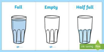 Capacity Display Posters (Cups) - Capacity display posters, capacity, volume, litre, full, empy, half full, measure, jug, cup, water, display, poster, freize, numeracy, measurement, capacity, poster