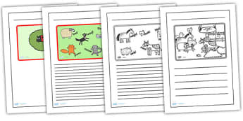 Story Writing Frames to Support Teaching on What the Ladybird Heard - what the ladybird heard, writing frames, writing guides, writing aid, writing template, line guides, guides