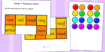 r and Vowel Production Game - r, vowel, sounds, sound, game