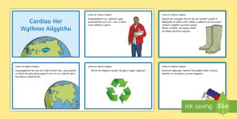 Cardiau Her Wythnos Ailgylchu Cardiau Her - recycling, challenge, ards, ailgylchu, cardiau, her, Cymraeg,Welsh