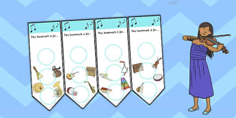 Music Themed Sticker Reward Bookmark 30mm - bookmarks, bookmark, reward bookmark, music reward bookmark, music sticker bookmark, music sticker reward, 30mm