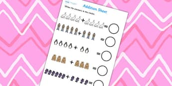 Polar Regions Addition Sheet - polar reigions, addition sheet, adding, plus, themed addition sheet, addition worksheet, worksheet, numeracy, numbers