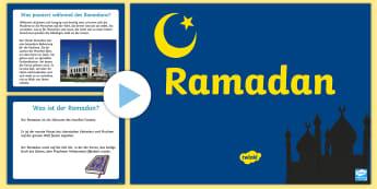 Ramadan Informationen PowerPoint - Vorschule, Ramadan Informationen, Powerpoint, Ramadan, Infos, ppt, Fasten, Fastenzeit, Islam, Muslim