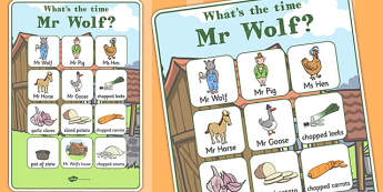 Vocabulary Poster to Support Teaching on What's The Time, Mr Wolf? - vocabulary, poster