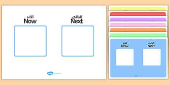 Now, Next Visual Aid Arabic/English