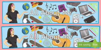 All About Me! Banner - entry, personal, life, sen, hobbies