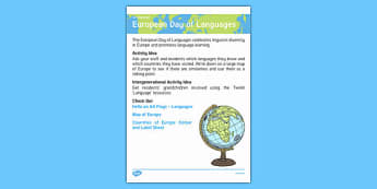 Elderly Care Calendar Planning September 2016 European Day Of Languages Pdf European Day Of Languages - Elderly Care, Calendar Planning, Care Homes, Activity Co-ordinators, Support, September 2016