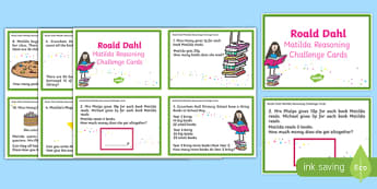 Matilda Reasoning Year 2 Challenge Cards