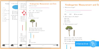 Kindergarten Measurement and Data Online Assessment Practice Go Respond Activity Sheet - Common Core Math, boy, eoy, moy, online, practice, assessment, dibels, test, Worksheet