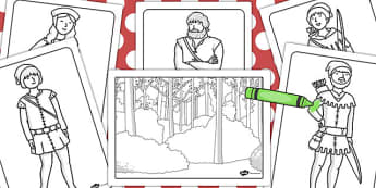 Robin Hood Colouring Pages - robin, hood, colouring, colour
