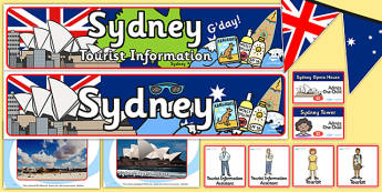 Sydney Tourist Information Office Role Play Pack-sydney, tourist information, tourist, role play, role play pack, sydney pack, tourist, games