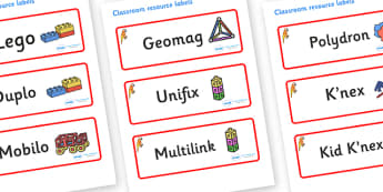 Parrot Themed Editable Construction Area Resource Labels - Themed Construction resource labels, Label template, Resource Label, Name Labels, Editable Labels, Drawer Labels, KS1 Labels, Foundation Labels, Foundation Stage Labels