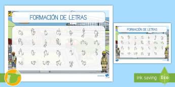 Tapiz de formación de letras: Las profesiones - proyecto, transcurricular, trabajos, oficios, profesor, profesora, veterinario, veterinaria, policia