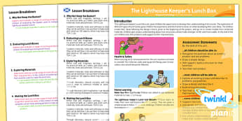 PlanIt - DT KS1 - The Lighthouse Keepers Lunch Box Planning Overview CfE - planit, planning, overview, cfe