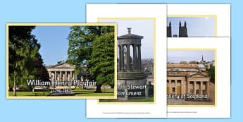 Scottish Architect William Henry Playfair Photo Pack - CfE, Scottish Architects, architecture, scotland, William Henry Playfair