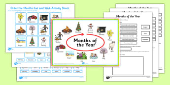 Months of the Year Activity Pack - months, year, activity, pack