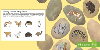 Under Eights Week: The Country Animals Story Stone Cut-Outs - retelling, creative, imagination, literacy, english, story time, characters, animals