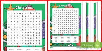 Christmas Word Search-Australia