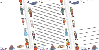 Pinocchio Page Borders - Pinocchio, Geppetto, Blue Fairy, wand, father, boy, puppet, page border, border, writing template, writing aid, writing,  puppet show, cat, dog, ears and tail, nose, magic tree, coins, raft, school, son, child, shrink, story,