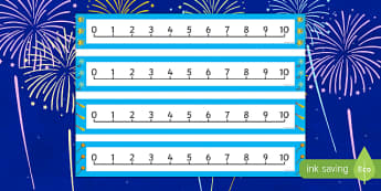 Bonfire Night Themed 0 10 Number Line