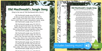 Old MacDonald's Jungle Song - Jungle and Rainforest, forest, amazon, singing, song time, old macdonald, old mcdonald
