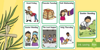 Lent Sequencing Cards - Aistear, Infants, English Oral Language, Lent, Easter, ROI, Sequencing Cards,Irish