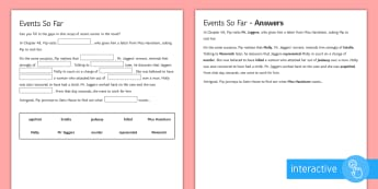 Chapter 49 Cloze Recap Go Respond Activity Sheet to Support Teaching on Great Expectations by Charles Dickens - Great Expectations, Charles Dickens, Chapter 49, Estella, Wemmick, Mr Jaggers, Pip, Molly, Miss Havi