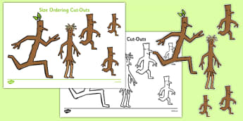 Size Ordering Cut Outs to Support Teaching on Stick Man - size ordering, cut outs, support teaching, stick man