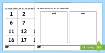 Odd and Even Number Sorting Activity - odd, even, odd and even, sorting activity, sorting, sorting games, numeracy, numeracy activities, numeracy games