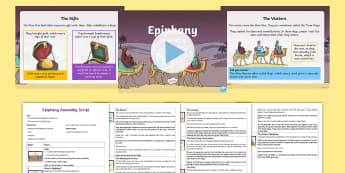 Epiphany Assembly Pack - Whole school assembly, Epiphany assembly, KS1 assembly, KS2 assembly, epiphany, nativity, Christmas,