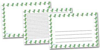 Cute T-Rex Landscape Page Borders- Landscape Page Borders - Page border, border, writing template, writing aid, writing frame, a4 border, template, templates, landscape