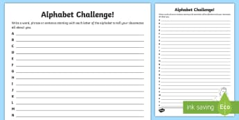 All About Me Alphabet Writing Activity Sheet - CfE Back to School, new class, new school year, transition, settling in, getting to know you, first