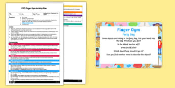 EYFS Feely Bag Finger Gym Plan and Prompt Card Pack