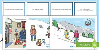 Winter Schauplätze Quizkarten - Winter Schauplätze Quizkarten, Winter, Winter Schauplätze, Jahreszeiten, Quizkarten, Winter Quiz,