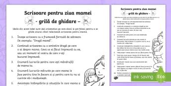 Scrisoare pentru Ziua Mamei Grilă de ghidare - Spring, primăvară, idei, ziua mamei, scrisoare, grilă, ghidare, romanian, ce să scriu, cum sa sc