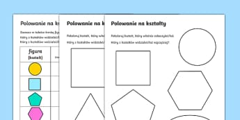 Karty Polowanie na kształty