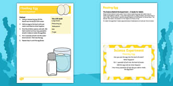 EYFS Floating Egg Science Experiment and Prompt Card Pack