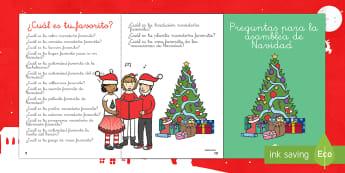 Cuadernillo de 100 preguntas para iniciar conversación: Navidad - conversa, navidad, Spanish