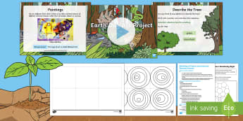 Earth Day Art Project Lesson Pack - KS1, Year 1, Year 2, Paint, Colour, Primary Colour, Secondary Colour, Colour Mixing, Tints, Shades,