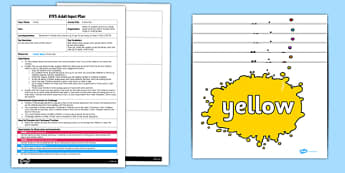 EYFS Colour Run Adult Input Plan and Resource Pack - EYFS, Early Years planning, adult led, listening and attention, understanding , C&L