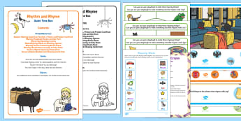 Rhythm and Rhyme Quiet Time Box - Phase 1, Aspect 4, Rhythm, Rhyme, letters and sounds, phonics, rhyming, rhyming string