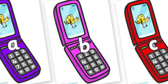 Phase 2 Phonemes on Mobile Phone - Phonemes, phoneme, Phase 2, Phase two, Foundation, Literacy, Letters and Sounds, DfES, display