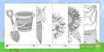 Coloriages anti-stress : L'été - coloriages anti-stress : l\'été, coloriages, anti-stress, été, l\'été, vacances, saisons,